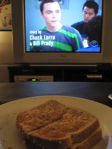 Cheese sandwich at midnight while watching tv after a 4 hours board meeting