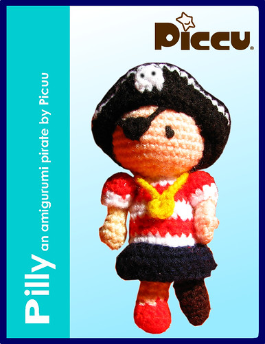 Pilly - an amigurumi pirate girl