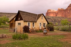 Capitol Reef National Park, Fruita, Gifford House (darthjenni) Tags: old trip travel vacation usa building tourism nature stone landscape outdoors utah colorado desert farm plateau hike cliffs nostalgia trail valley canyonlands tage fold escalante formations monoliths capitolreefnationalpark fruita buttress talus geological buttresses geologic waterpocket giffordhouse beautifulimages talusslope coth5 darthjenni vinformations