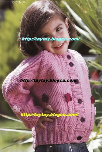4050548470 b3aac6614c çiçekli kız çocukları için hırka anlatımı