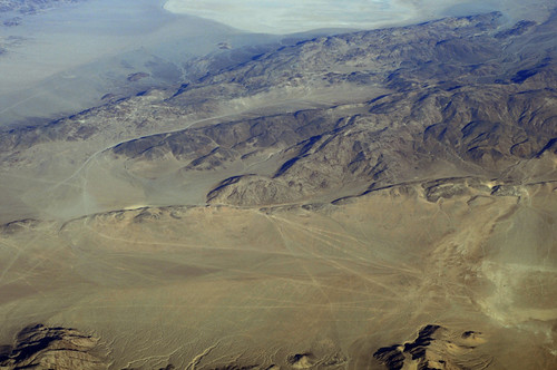 Above the Homestead Valley and Emerson faults and Emerson Lake, San Bernardino County, California
