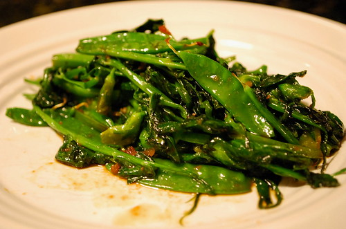 Stir-fried Pea Shoots and Pods