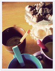 Won't you join us for a treat (Cozy Memories) Tags: home coffee mugs candy drink latte cosy rollip chocolatecoveredmarshmallowteddies