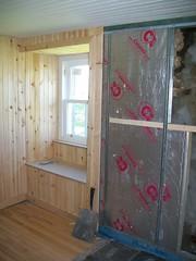Laig Farmhouse insulation (isleofeigg) Tags: isle eigg