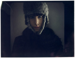 Petra (Blackmint Pepper) Tags: portrait woman color girl polaroid photography russia chapka