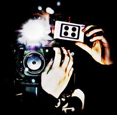 my fantastic new camera (a lomo by Ira Estudios) part 2 (Meli/stressed out :[) Tags: portrait nikon flash ich 58mm spiegelbild nokton voigtlnder d300 lomobyiraestudios