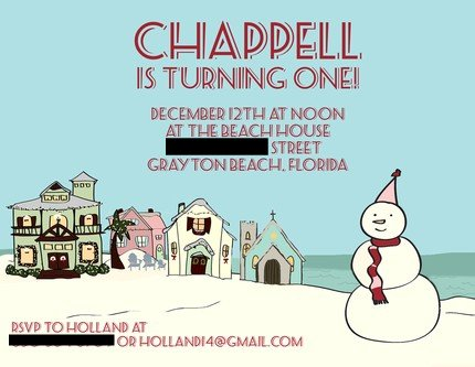 Chappell's 1st Birthday Invite