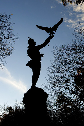 the Falconer in Central Park by Alida's Photos