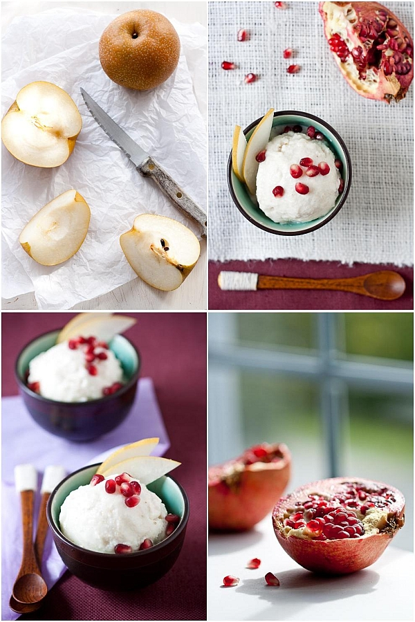 Asian Pear Frozen Yogurt