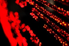 red alert (mav_at) Tags: camera light red rot nature lensbaby linz photography austria licht photo sterreich blurry nikon foto fotografie bokeh d70s human electronica ars 2009 kamera avantgarde lampen kunstwerk unschrfe maverickat mavat