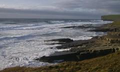 Coastal waves (monika & manfred) Tags: sea water waves wildlife shoreline foam mm cliffhike orkneys rollingin orkneyislands scotland2009 holidays3