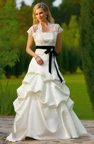 A-Line Design in bridal dress.