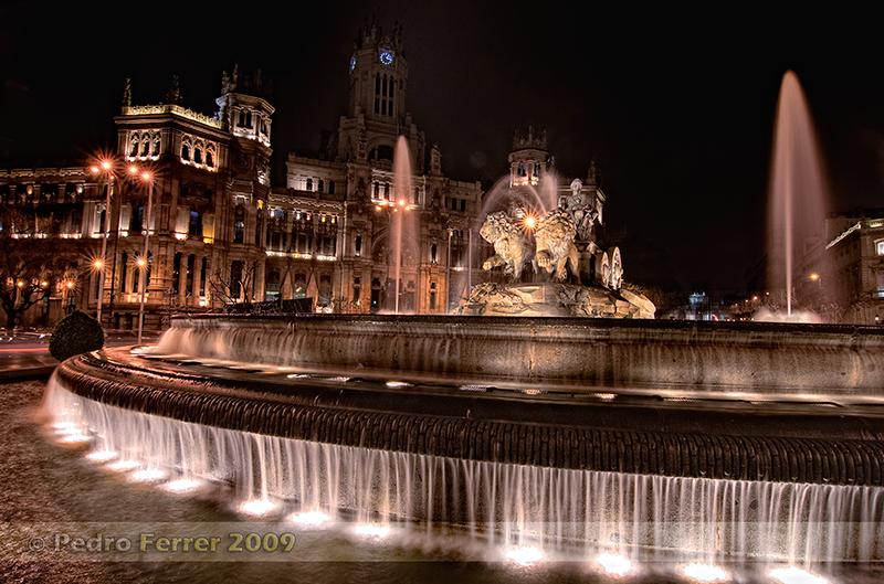 Fuente de Cibeles y Ayuntamiento de Madrid - Navidades 2008