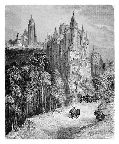 019-El Alcazar y la catedral de Segovia-Spain (1881)- Doré Gustave