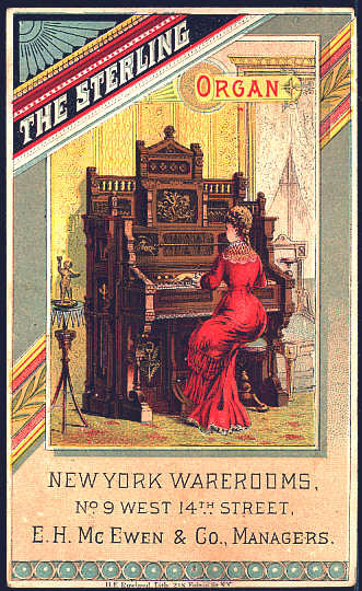 Trade Card-The Sterling Organ