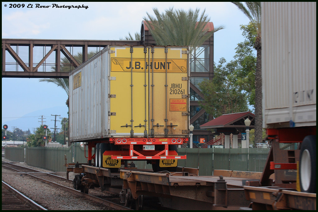 J.B. Hunt TOFC at Fullerton California