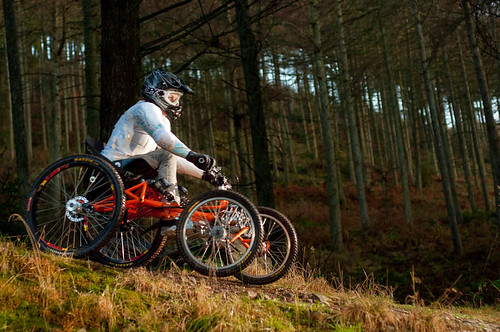 downhill wheelchair mountain bike