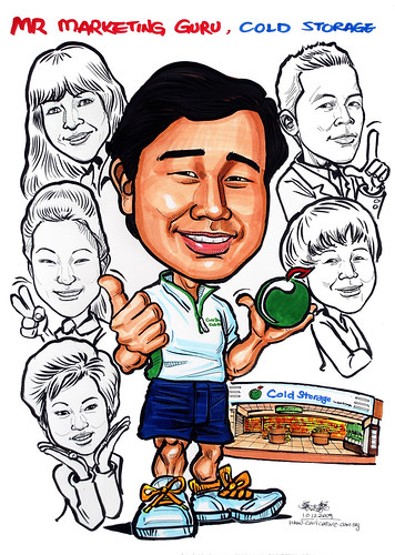 Group caricatures for Cold Storage