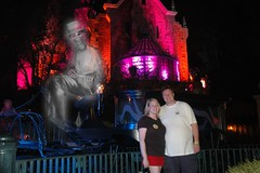 Us Outside Haunted Mansion (LVnative) Tags: vacation geotagged orlando florida mansion waltdisneyworld 2009 magickingdom halloweenhaunted lvnative
