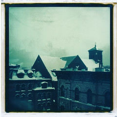 (jeffreywithtwof's) Tags: nyc morning windows roof winter snow cold film jeff church wet brooklyn square polaroid sx70 1 roofs peel alpha hutton f2b technique bedstuy fadetoblack instantfilm polaroidsx70alpha1 autaut jeffhutton integralfilm polapremium jeffhuttonphotography jeffreyhutton