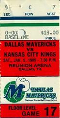 1-5-1985, Kansas City Kings at Dallas Mavericks, Reunion Arena - Ticket Stub (Joe Merchant) Tags: city reunion dallas 5 january ticket arena kings kansas 1985 stub mavericks