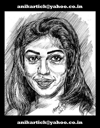 NAYANTHARA-South Indian Actress in my Portrait ART - Chennai Animation Artist ANIKARTICK