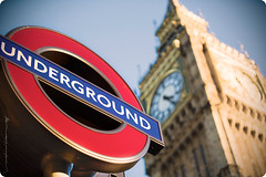 Underground  -(---)- (Rex Maximilian) Tags: uk greatbritain england london tower clock sign underground europe parliament bigben fromthearchives