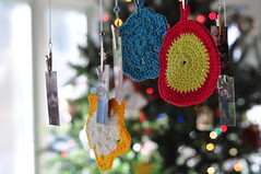 Gift Tags (JulieFrick) Tags: flower circle star stash crochet grannysquare gifttags fricknits royalsisters