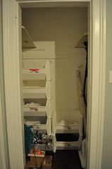 small closet before