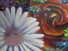 Close up: Blumenbild Auftrag SEAK auf Metall