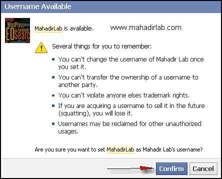 Cara tukar URL Facebook Page