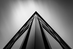 Dark Corner (John Pettigrew) Tags: lines tamron d750 nikon art reflection abstract windows noir monochrome 2470mm exposure building long black fineart bw angles architecture white 10stop nd advantix filter tiffen