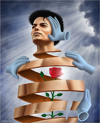 Heal The World - Michael Jackson (Ben Heine) Tags: light portrait music usa black flower celebrity love fleur rose death petals lyrics dangerous hands support heaven poem peace heart african mort unique rip performance fame bad voice scene dancer icon coeur surgery talent