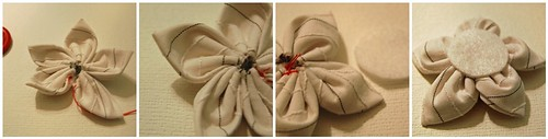 Fabric Flower Tutorial: Steps Seven - Ten