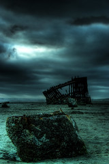 Peter Iredale Skeleton HDR (Bill Ratcliffe) Tags: beach oregon coast ship shipwreck astoria pacificnorthwest oregoncoast hdr peteriredale iredale peteriredalewreck iredaleshipwreck peteriredaleshipwreckage peteriredalehdr