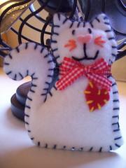 Eu acho que vi um gatinho (Core - artesanato em feltro) Tags: artesanato feltro feitoamo