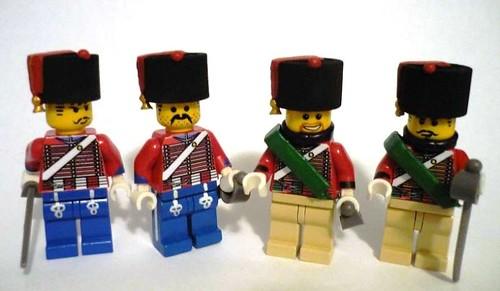 lego Hussars custom minifigs