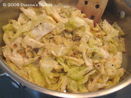 "Shrimp With Pan ""Fried"" Chinese Cabbage: Cooked Cabbage"