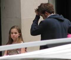 waiting to film (cybermelli) Tags: birthday new york city nyc sleeping party moon robert me girl set bag movie dawn book eclipse twilight shoot remember little sister candid july rob edward jail paparazzi shooting bloody filming 2009 bruised breaking memoirs bruises cullen pattinson