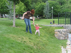 Lilah and Mama at the park