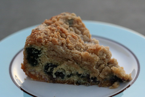 Blueberry Peach Mango Crumb Cake