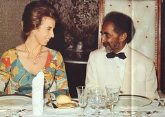 Princess Anne visiting Emperor Haile Selassie in 1972 (royalist_today) Tags: anne princess ethiopia 1972 emperor haileselassie