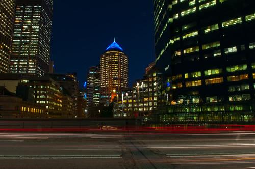 Sydney CBD from across the Cahill Expressway