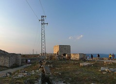 Roman fortress (stinger-post) Tags: sunset sea ancient bulgaria fortress  kavarna kaliakra    lumixlx3