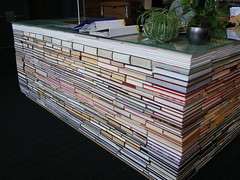 Desk of books (ellen forsyth) Tags: library informationdesk bibliotheek librariesandlibrarians tudelftarchitecturebibliotheek