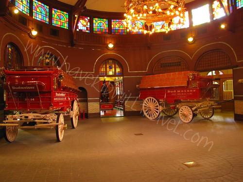 Budweiser wagons, Anheuser Busch Brewery, St. Louis, Missouri