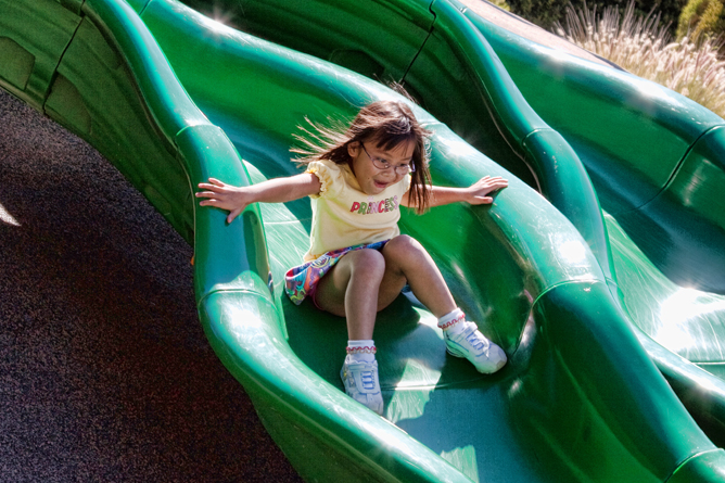 Chloe on a Wavy Slide