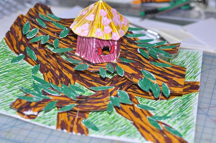 birdhouse pop-up card   finished second view