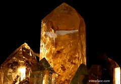 Quartz Crystals in Light (VIM'S PLACE) Tags: crystals minerals quartz gems smokeyquartz tucsongemandmineralshow