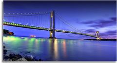 Verrazano Narrows Bridge (kw~ny) Tags: nyc newyorkcity longexposure sunset reflection brooklyn harbor nikon best atlantic statenisland bqe hdr verrazanonarrowsbridge verrazano forttotten newyorkcitymarathon vzb kevinwoods